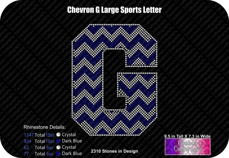 G Chevron Large Sports Letter