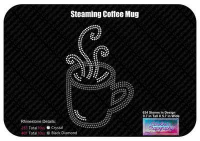 Steaming Coffee Mug Stone