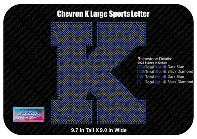 K Chevron Large Sports Letter