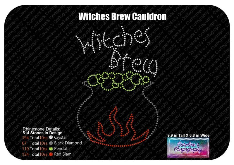 Witches Brew Cauldron Rhinestone