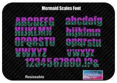 Mermaid Scales Font Vinyl
