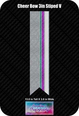 Cheer Bow Multi Striped Vinyl 3 inch