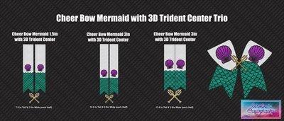 Cheer Bow Mermaid 3D Trident Vinyl Trio