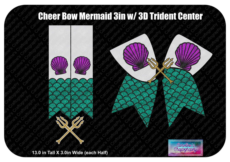 Cheer Bow Mermaid 3D Trident Center 3in Vinyl