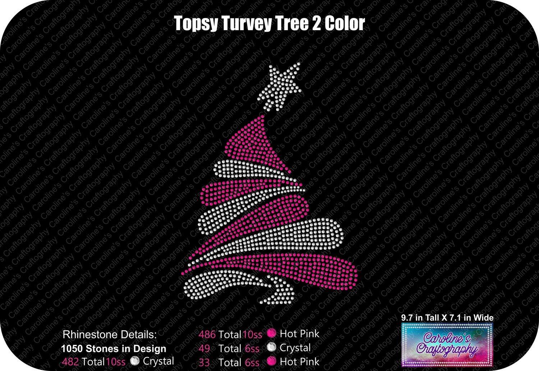 Topsy Turvey Tree 2 Color Rhinestone