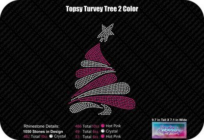 Topsy Turvey Tree 2 Color Rhinestone