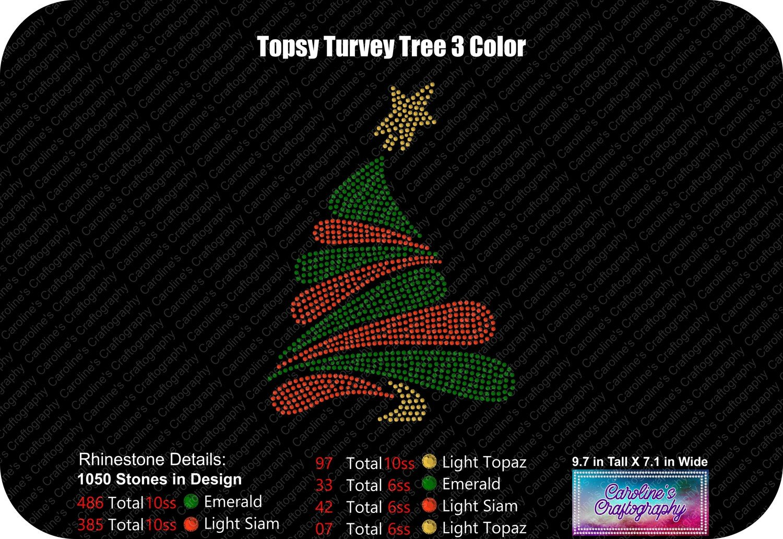 Topsy Turvey Tree 3 Color Rhinestone