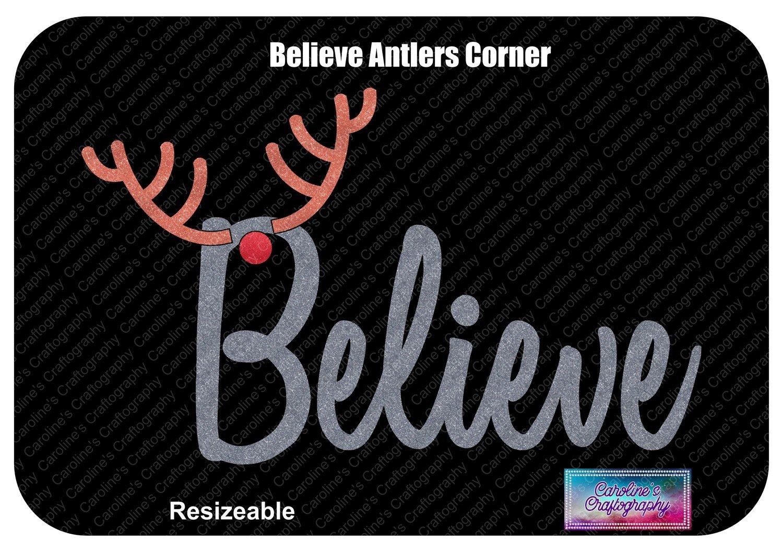 Believe Antlers Corner Red Nose Vinyl