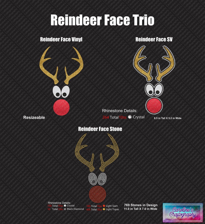 Reindeer Face Trio
