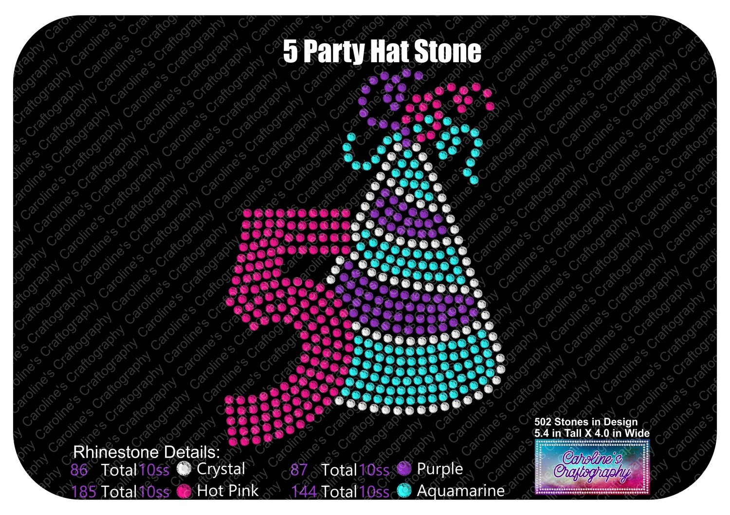 Party Hat Number 5 Stone