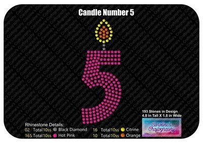 Candle Number 5 Stone