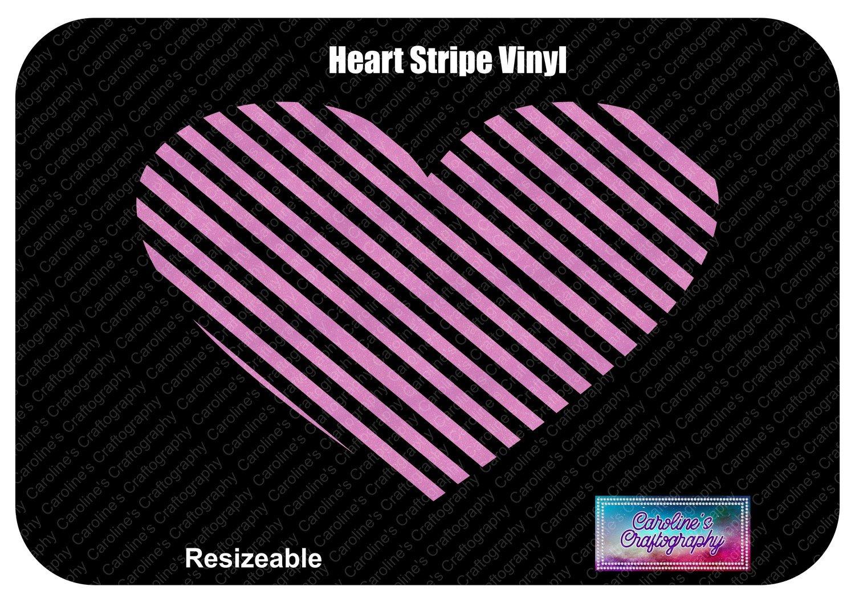 Heart Stripe Vinyl