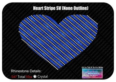 Heart Striped Stone Vinyl (None Outlined)