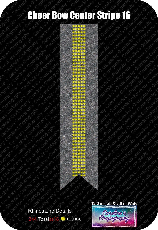 Cheer Bow Center Stripe 16 3in Stone