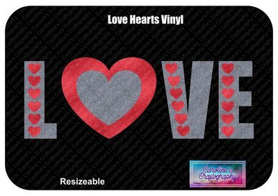 Love Hearts with Heart O Vinyl