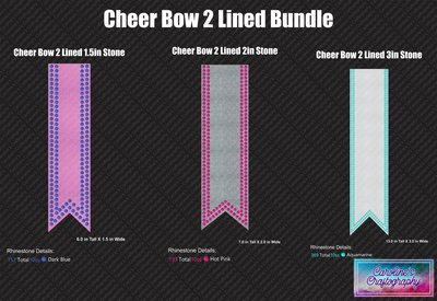 Cheer Bow 2 Lines Stone Bundle
