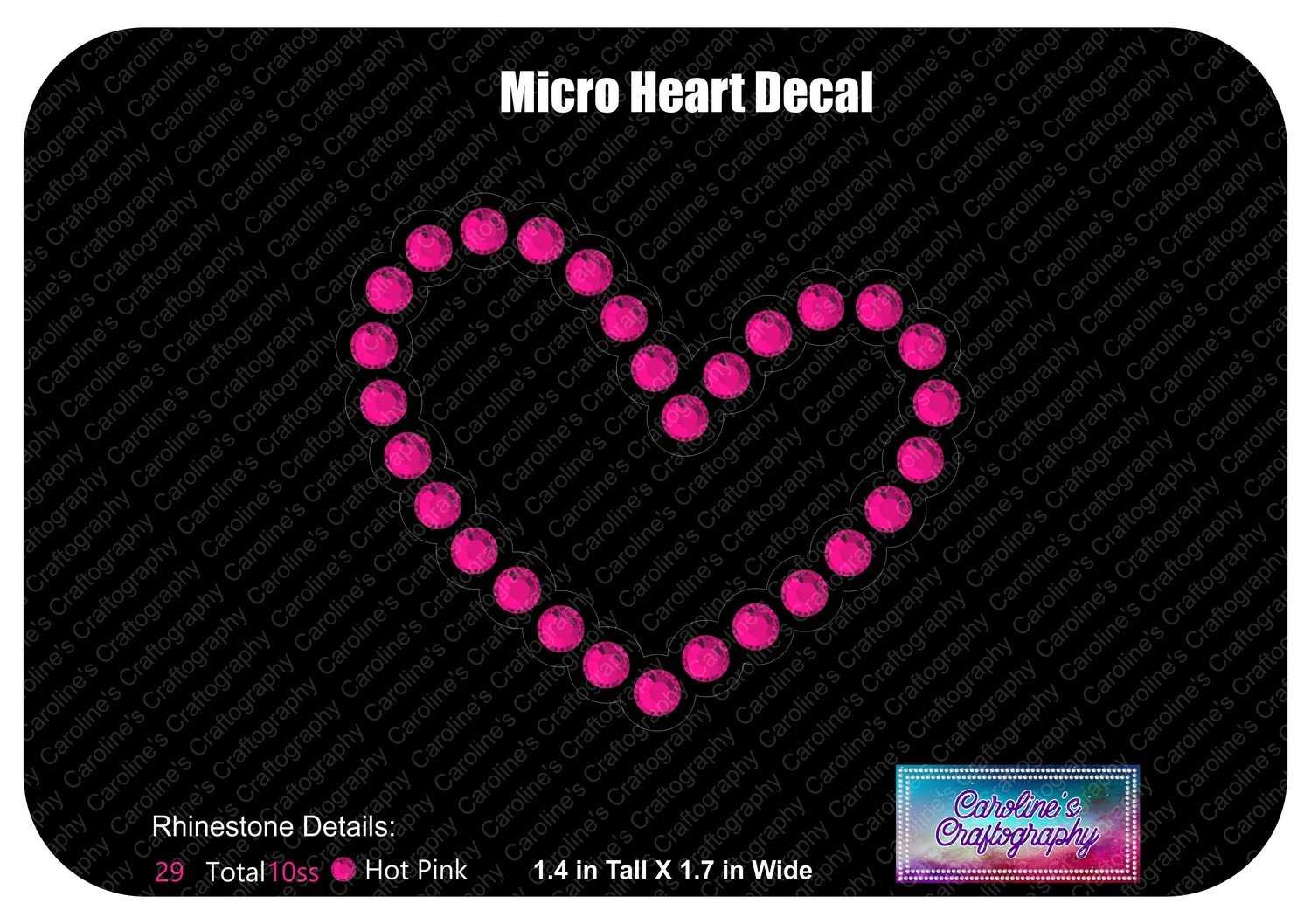 Micro Heart Decal