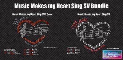 Music makes my heart sing hearts Stone Vinyl Bundle