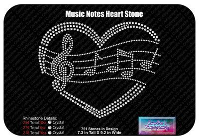 Music notes heart Stone