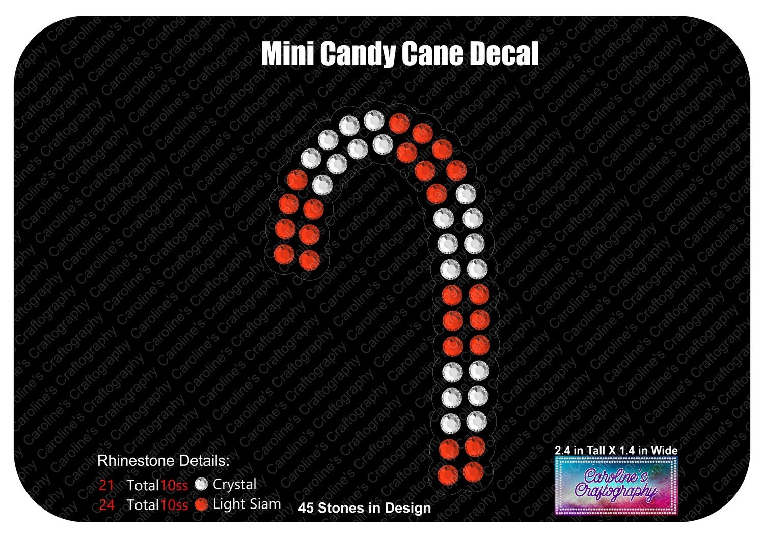 Mini Candy Cane Decal