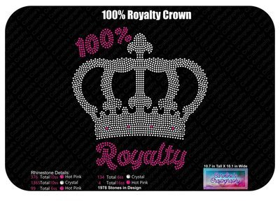 100% Royalty Crown Rhinestone
