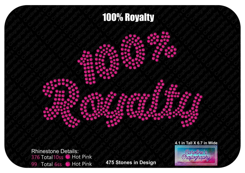 100% Royalty Script Rhinestone