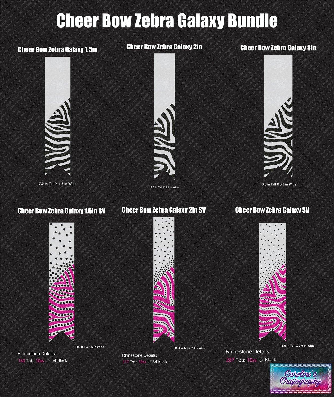 Zebra Galaxy Cheer Bow Bundle