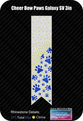 Paws Galaxy 3in Cheer Bow Stone Vinyl