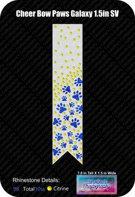Paws Galaxy 1.5in Cheer Bow Stone Vinyl