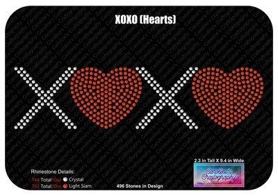 XOXO Hearts Rhinestone
