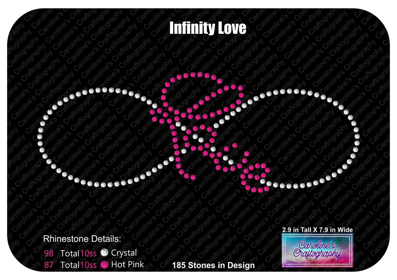 Infinity Love Rhinestone