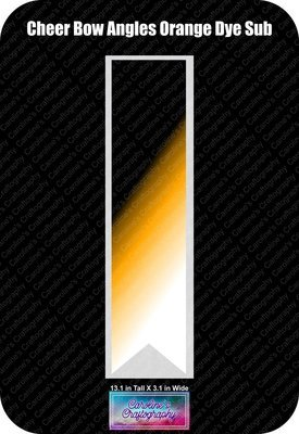 Angles Dye Sub Orange Cheer Bow