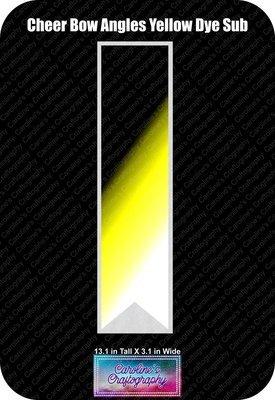 Angles Dye Sub Yellow Cheer Bow