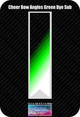 Angles Dye Sub Green Cheer Bow