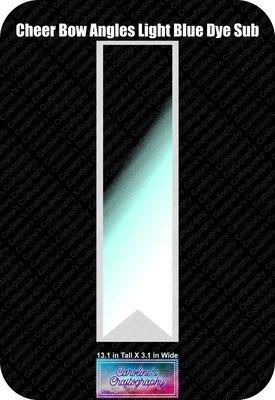Angles Dye Sub Light Blue Cheer Bow