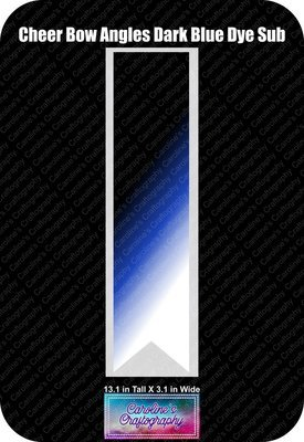 Angles Dye Sub Dark Blue Cheer Bow