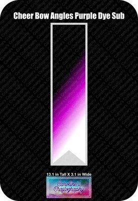 Angles Dye Sub Purple Cheer Bow