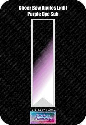 Angles Dye Sub Light Purple Cheer Bow