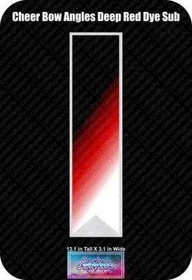 Angles Dye Sub Deep Red Cheer Bow