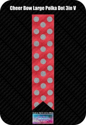Large Polka Dot Cheer Bow 3in Vinyl