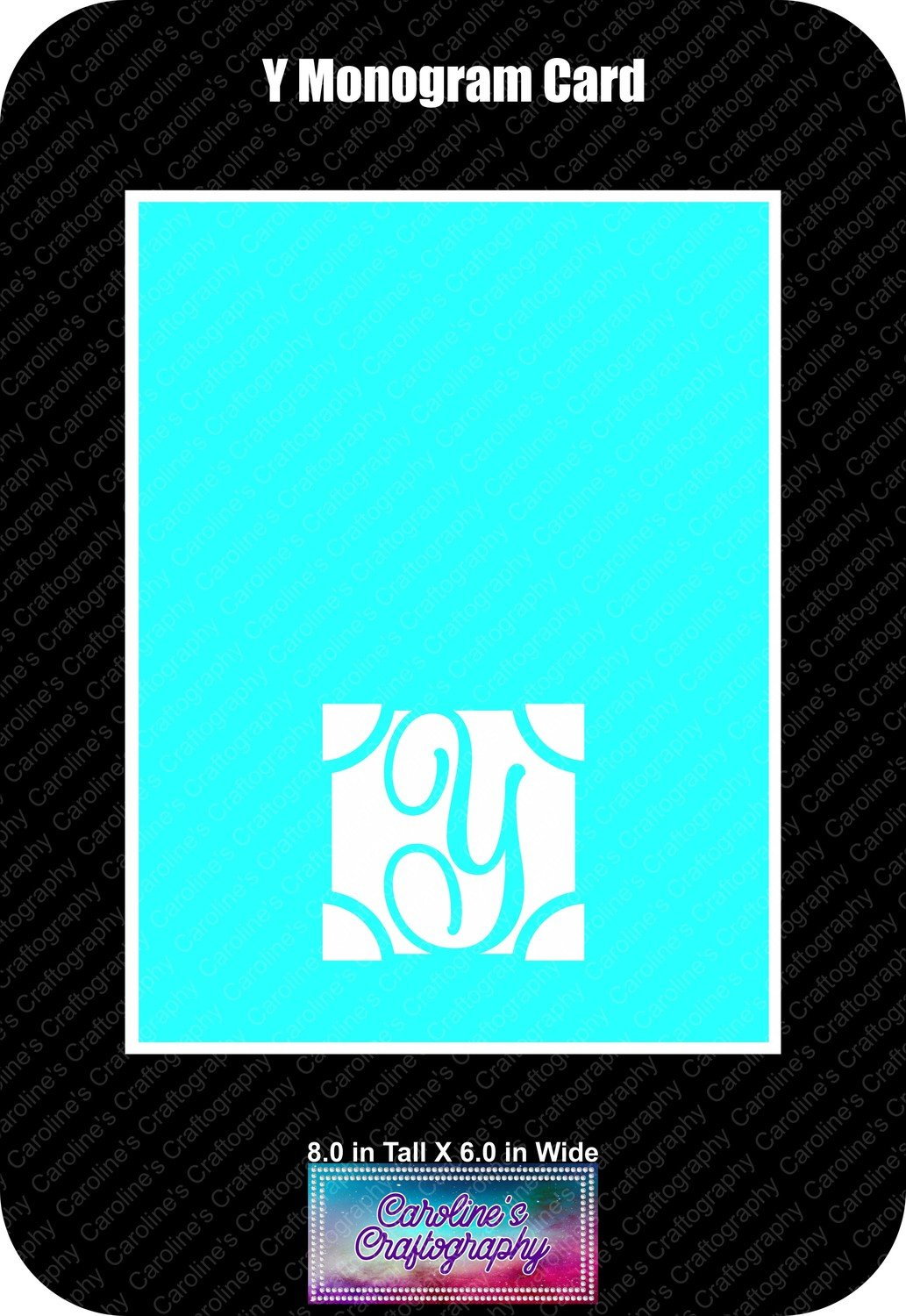 Y Monogram Card Base