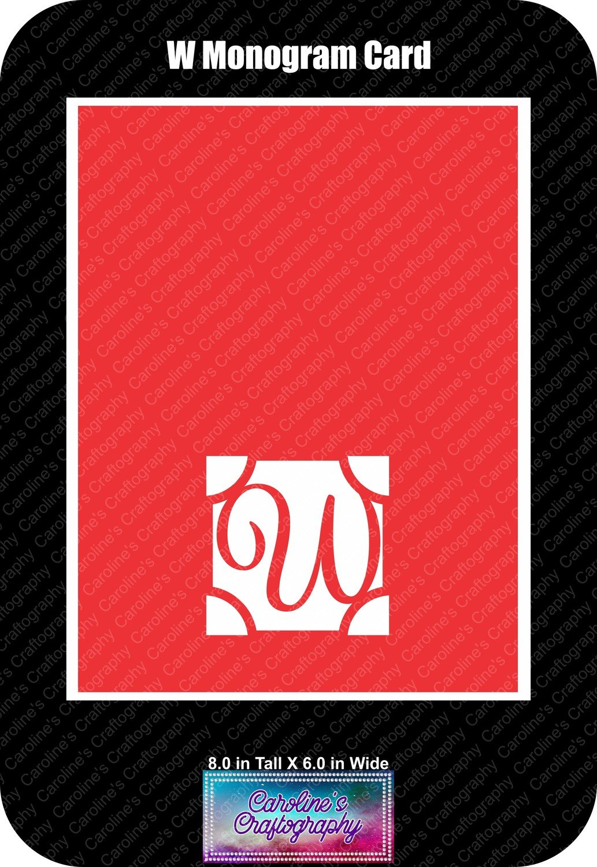 W Monogram Card Base