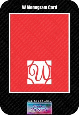 W Monogram Card Base