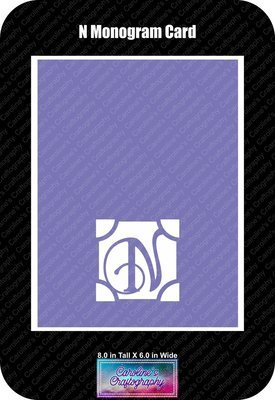 N Monogram Card Base