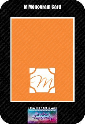 M Monogram Card Base