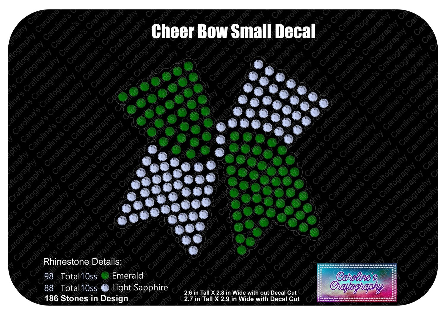 Cheer Bow Small Decal Stone