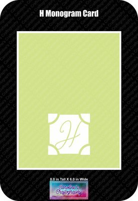 H Monogram Card Base