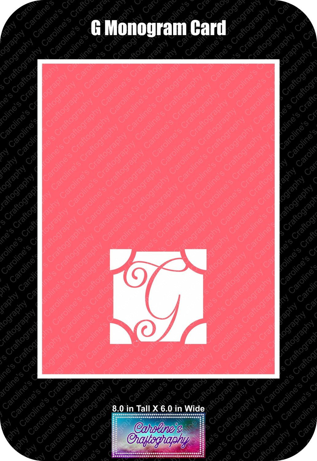 G Monogram Card Base