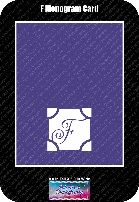F Monogram Card Base