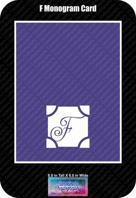 F Monogram Card Base
